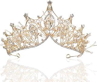 Wohlstand Corona de Tiara de Cristal,Tiara de Boda Novia Tiara de Princesa del Diamante Fiesta Boda Nupcial Tiara Corona, ...