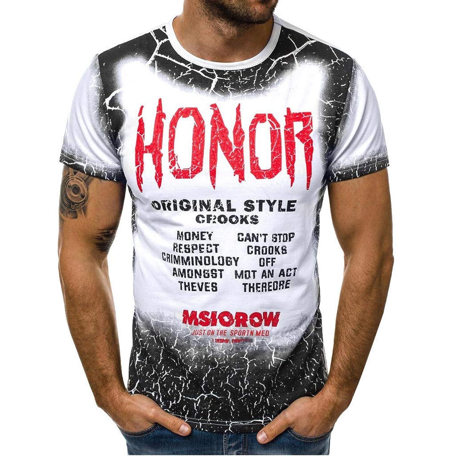 Mens Hip Hop Tie-Dyed Hipster Curve Hem T Shirt Slim Fit Basic Sleeve T-Shirt