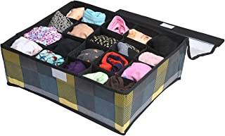 Yellow Weaves? Undergarments Organizer/Foldable Storage Box with Lid for Drawers, Color - Multi