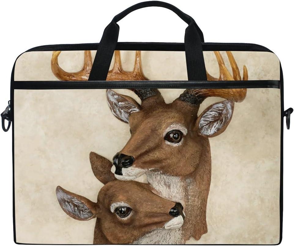 JSTEL Deer Laptop Shoulder Messenger Bag inch Sleeve for Max 49% OFF Case Super sale 14