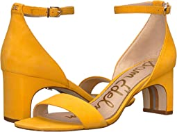 Amber Yellow Kid Suede Leather