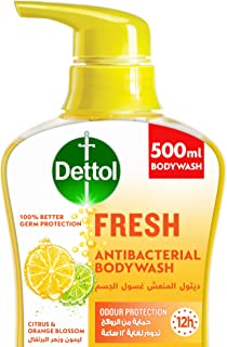 Dettol Fresh Showergel & Bodywash for effective Germ Protection & Personal Hygiene (protects against 100 illness causing g...