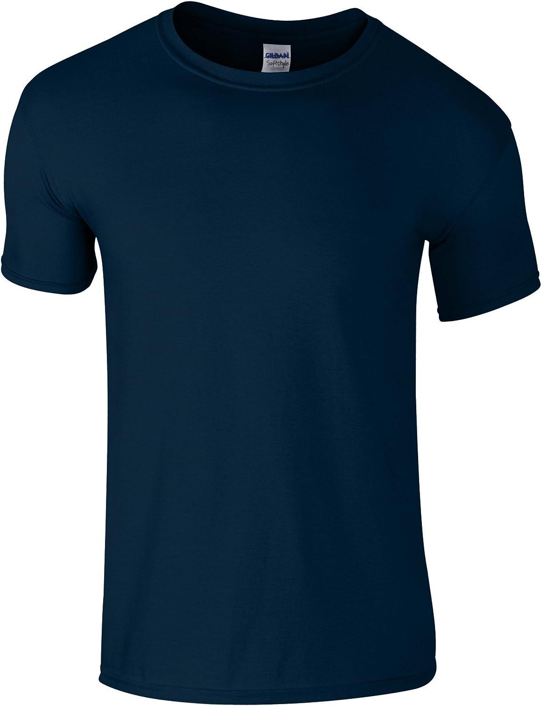 Gildan Childrens Unisex Soft Style T-Shirt (Pack of 2) (XL) (Navy)