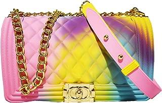 Color Handbags Ladies Shoulder Bag PVC Fashion Handbags Color Matte Matte Rhombic Jelly Bag