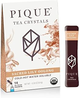 Pique Tea Organic Sacred Lily Oolong - Immune Support, Gut Health, Fasting - 1 Pack (14 Sticks)