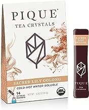 Pique Tea Organic Sacred Lily Oolong - Gut Health, Fasting, Calm - 1 Pack (14 Sticks)