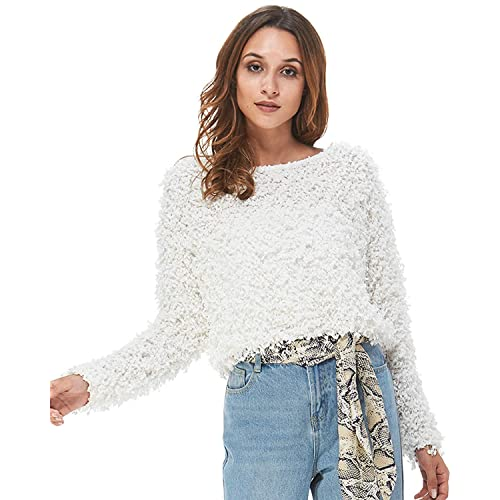 fcc15c785c Carprinass Women s Pullover Boat Neck Jacquard Sweaters for Autumn and  Winter