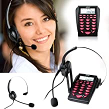 AGPtEK Corded Telephone with Headset & Dialpad for House Call Center Office –..