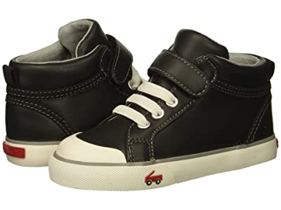 See Kai Run Kids Peyton (Toddler/Little Kid) (Black Leather) Boy