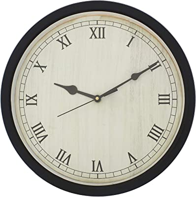 eCraftIndia Designer Round Analog Black Wall Clock