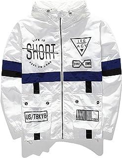 9ee32729 AITFINEISM Men's Fashion Lightweight Hoodie Zip-up Reflective Windbreaker  Jacket