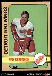 1972 O-Pee-Chee # 123 Red Berenson Red Wings (Hockey Card) Dean's Cards 5 - EX Red Wings