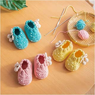 YOUPIN Handmade crochetHandmade Wool Crochet Knitted Baby Shoes, Sandals Garden Shoes, Newborn Gifts, Flower Shoes, Baby G...