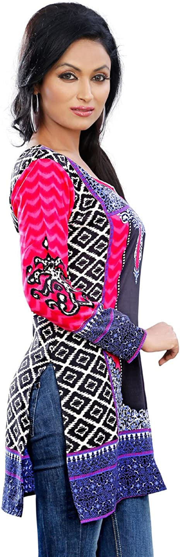MapleClothing Indische Kurti Frauen Tunika Top Bluse Bedruckte Indien Kleidung