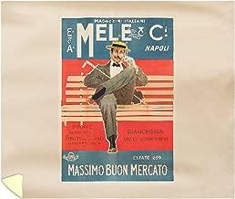 Mele and Ci - Massimo BUON Mercato Vintage Poster (Artist: Villa) Italy c. 1899 60828 (88x104 King Microfiber Duvet Cover)