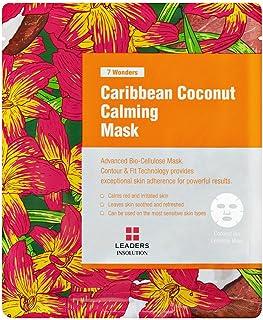 [Leaders Insolution] 7 Wonders Caribbean Coconut Calming Coconut Gel Bio-Cellulose Mask 10Pk