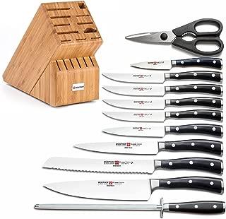 Wusthof Classic Ikon 12 Piece Knife Set with 17-slot Bamboo Block