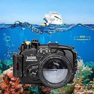 Sea Frogs 40m/130ft 水中カメラケース ソニー Sony A6300 防水ケース 防水ハウジング 保護ケース 防水プロテクター 水中撮影用 国際防水等級IPX8 フィルター付き