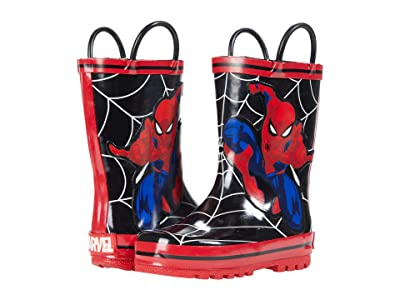 Favorite Characters Spiderman Rain Boots SPS506 (Toddler/Little Kid) (Black) Boy