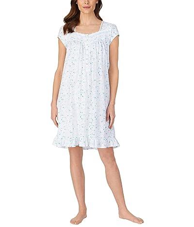Eileen West Cap Sleeve Short Nightgown (Viney Floral) Women