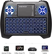 (2021 Latest, Backlit) ANEWISH 2.4GHz Mini Wireless Keyboard with Touchpad Mouse Combo,..