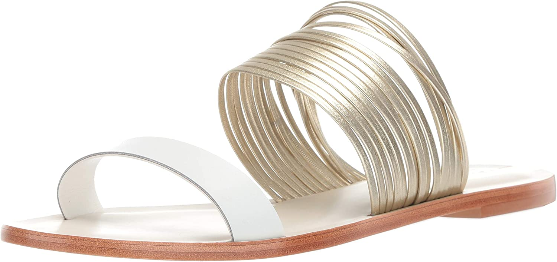 KAANAS Women's Samos Multi Strap Open Toe Flat Slide Sandal