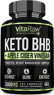 Keto Pills with Green Tea + Organic Apple Cider Vinegar Capsules [ Powerful 3000MG Diet Pills ] Exogenous Ketones Suppleme...