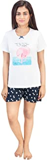 A9 Women's Cotton Printed Navy Blue Lounge Shorts (Offer at Checkout)
