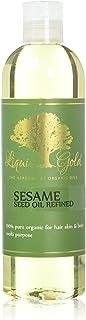 12 Fl.oz Premium Liquid Gold Sesame Oil Refined Pure & Organic Skin Hair Nails Health