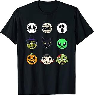 Scary Faces Halloween Emoji Boys Girls Kids Gift T-Shirt