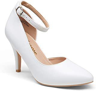 Women's High Heel D'Orsay Pumps Sexy Ankle Strap Stiletto...