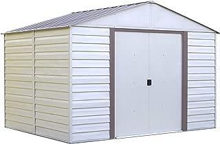 arrow vinyl milford high gable steel shed 10x12