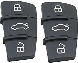 Heart Horse Button Replacement Pad Rubber Remote Key Fob Compatible with Audi LINE