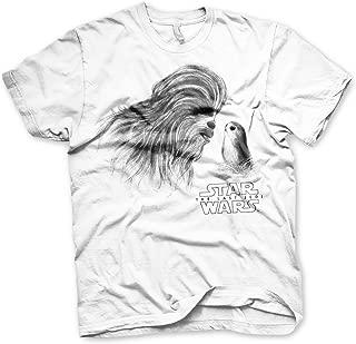 Officially Licensed Chewbacca & PORG Men's T-Shirt (White)