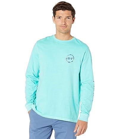 Vineyard Vines Long Sleeve Garment Dyed Island LVS Whale Dot T-Shirt