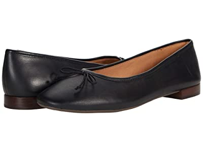 Madewell The Adelle Ballet Flat in Leather (True Black) Women