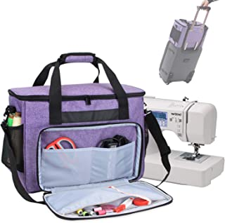 Suny Smiling Sewing Machine Carrying Bag Sewing Machine/Tote Bag Compatible with Most Standard Sewing Machines and Accessories #4131