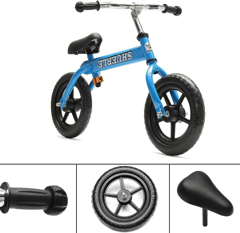 GEOPONICS 12 Kids Balance Bike Adjustable Handle Seat No-Pedal Learn to Ride Bicycle Gift
