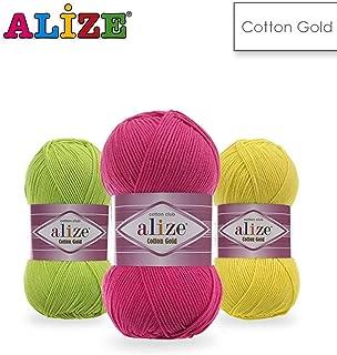 4 Balls Alize Cotton Gold, Crochet Yarn, Knitting Yarn, Baby Yarn, Acrylic Cotton Yarn