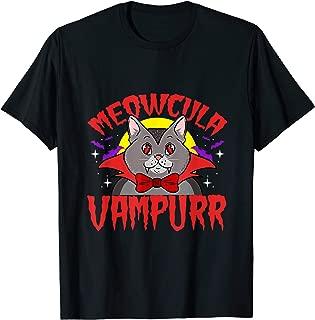Meowcula Funny Cat Vampire Dracula Halloween T-Shirt