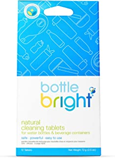 Bottle Bright- All Natural, Biodegradable, Chlorine & Odor Free Water Bottle & Hydration Pack Cleaning Tablets