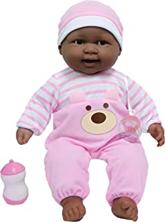 JC Toys Lots to Cuddle Babies African American 20-Inch Purple Soft Body Baby Doll and Accessories Designed by Berenguer
