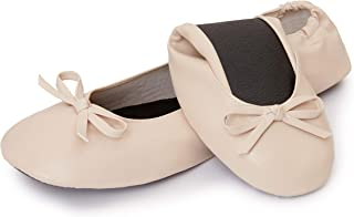 Cinderollies Foldable Ballet Flats - Womens Rollable Travel Flat Comfort Shoes with Pouch