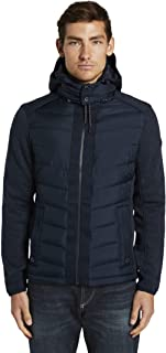 TOM TAILOR Men's hybrid quilted jacket with removable hood