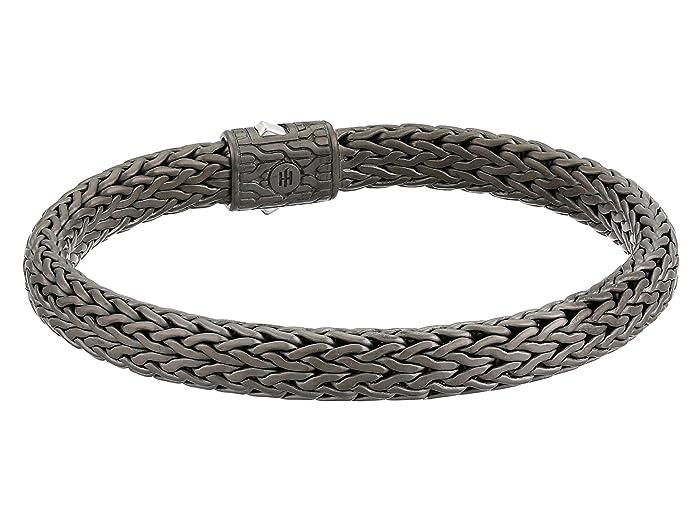 John Hardy  Classic Chain 7.5mm Bracelet (Blackened Silver) Bracelet