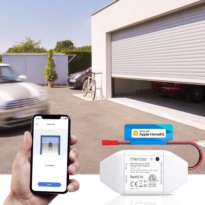 Buy Meross Smart Garage Door Opener Remote Compatible With Apple Homekit Amazon Alexa Google Assistant Smartthings Multiple Notification Modes No Hub Needed Online In Indonesia B084z5qzr2