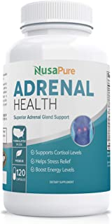 Adrenal Support (Non-GMO) 120 Capsules - Double The Competition - Comprehensive Adrenal Support with Ashwagandha Root, L-T...