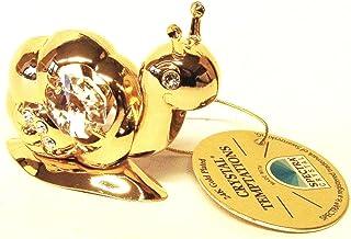 Swarovski Components - CRYSTAL TEMPTATIONS - de caracol en oro - colour cristales de Swarovski - 24 quilates de oro-plateado - - Medidas: 5 cm