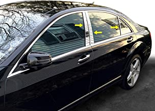 Front Door Molding and Beltlines Compatible with MERCEDES BENZ S-CLASS 2007-2013 RH Chrome