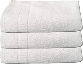 Kuber Industries 3 Pieces Full Size Bath Towel, Cotton, White, 27 x 54 inch